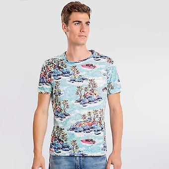 Camiseta Turquesa Paradis