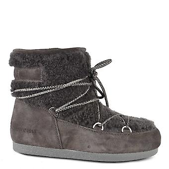 Moon Boot Far Side Anthracite Low Shearling Boot