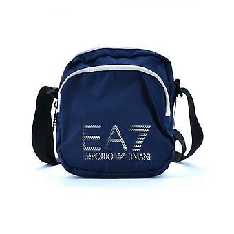 EA7 Dark Blue Double Pouch Bag
