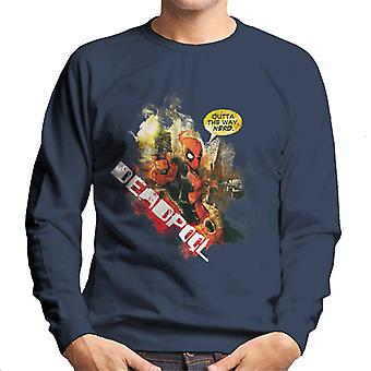Marvel Deadpool Outta The Way Nerd Men's Sweatshirt