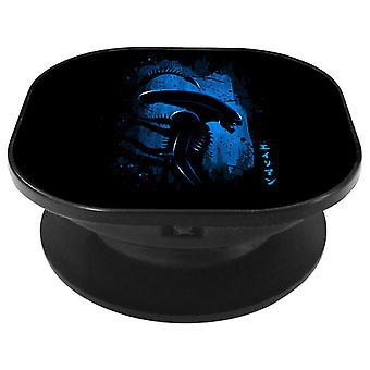 Alien Side Profile Blue Phone Grip