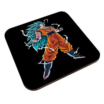 Goku Super Saiyan kolme dragon ball z coaster