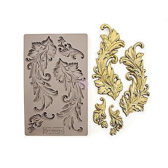 Re-diseño con Prima Baroque Swirls 5x8 Inch Mould