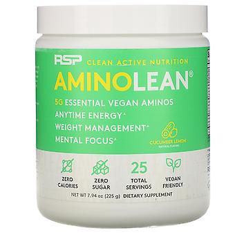RSP Nutrition, AminoLean, Essential Vegan Aminos, Cucumber Lemon, 7.94 oz (225 g