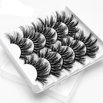3d Faux Mink Hair False Eyelashes, Natural/thick Long Eye Lashes Wispy Makeup