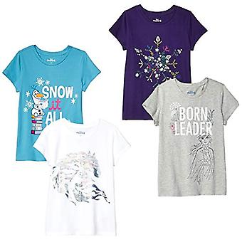 Spotted Zebra by Disney Frozen 2 - Toddler Girls' 4-Pack Short-Sleeve T-Shirt...