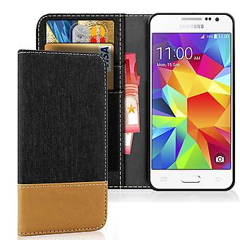 Mobilfordral Jeans for Samsung Galaxy Grand Prime Leatherette Protection Full Cover