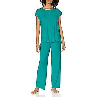 Marke - Arabella Frauen's Ärmellose Pyjama Set, Pfau, klein