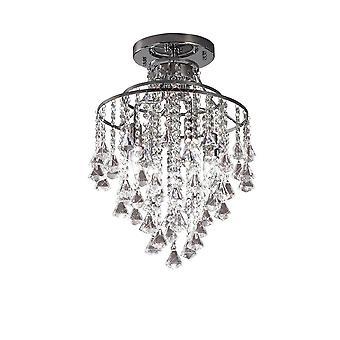 inspirert diyas - inina - semi flush tak 4 lys polert krom, krystall