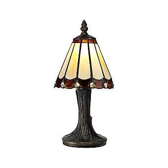 Luminosa-valaistus - Tiffany Pöytävalaisin, 1 x E14, Ruskea, Kirkas kristallivarjostin