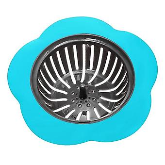 Silicone Sink Strainer, Flower Shaped Shower Drains Cover