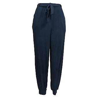 Anybody Women's Pants Cozy Knit Jogger W/ Tie Waistband Blue A372089