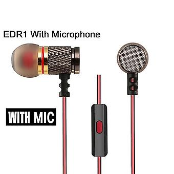 Ed2/edr1 In-ear Earphone High Quality Hifi Sport Earbud Auricular Metal Fever Heavy Bass Copper Hd Metal Bass Stereo Earpiece