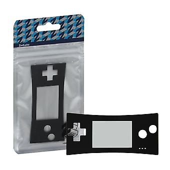 Replacement faceplate screen lens for nintendo game boy micro - black