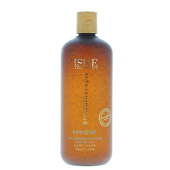 Om She Aromatherapie Energise Body Wash 500ml Lime, Peppermint & Orange - NEW.