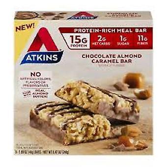 Repas de Atkins Bar chocolat Caramel aux amandes