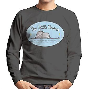 The Little Prince Elephant All Grown Ups Were Children Once Men's Sweatshirt