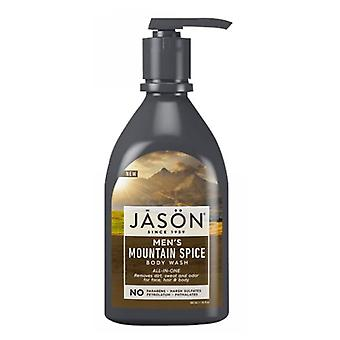 Jason Natural Products Men's Mountain Spice Body Wash, 30 Oz