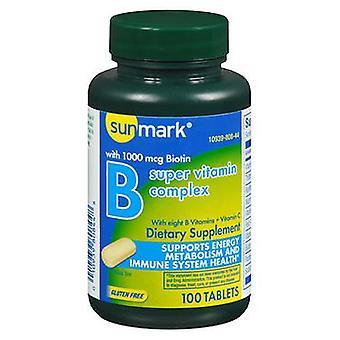 Sunmark Vitamin B Complex + C, 100 Tabs