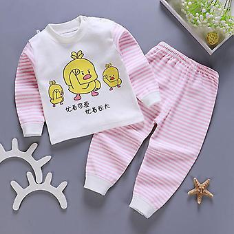 Baby Kids Pajamas Sets Cotton Long Sleeved Tshirt+pant For Boysgirls Set-2