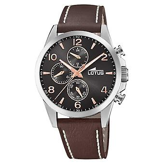 Lotus Men's Brown Leather Strap | Black Chronograph Dial L18630/3 Watch