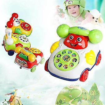 Baby Kids Cute Educational Developmental Cartoon Smile Face Toy-Telefon / Bil