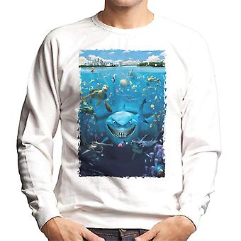 Pixar Alla ricerca di Nemo Character Montage Men's Sweatshirt