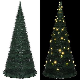 vidaXL árbol de Navidad pop-up artificial con LED verde 210 cm