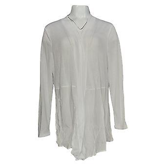 Rhonda Cisaillement Femmes-apos;s Plus Pull Blanc Cardigan Polyester 685-143