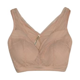 Rhonda Shear 1X One Pink Bra Lace Details Wire Free Nylon 723-623
