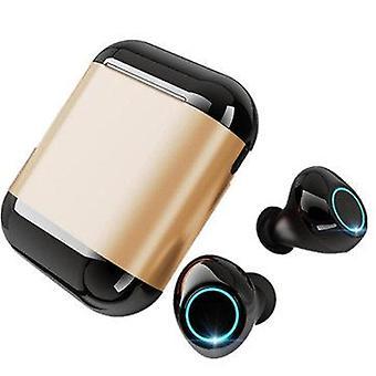 ثنائي بلوتوث 5.0 TWS في الأذن سماعات الأذن الذكية اللمس للماء HIFI ستيريو
