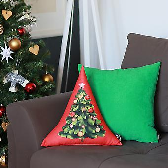 Printed Merry Christmas Triangle Decorative Throw Pillow