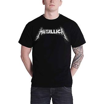 Metallica T Shirt Spiked Classic Band Logo Official Mens New Black