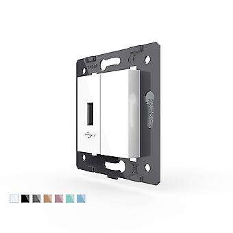 White Plastic Materials, Eu  Standard Diy Parts, Function Key For Usb Socket