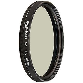Filtru polarizator circular Amazonbasics - single 58 mm