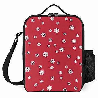 Snowing Red More Colors Printed Lunch Bags Cooler Box