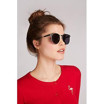 Louche Womens Kiko Silver Round Sunglasses Silver