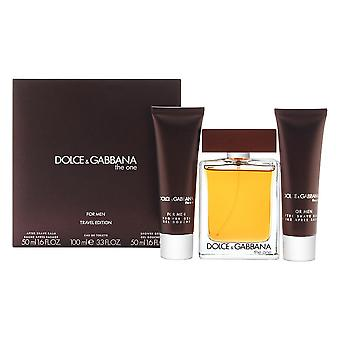 Dolce & gabbana the one for men 3 piece set includes: 3.4 oz eau de toilette spray + 1.6 oz after shave balm + 1.6 oz shower gel