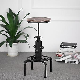 Kovová barová stolička Moderná výškovo nastaviteľná otočná pinewood top kuchyňa jedálenský bar