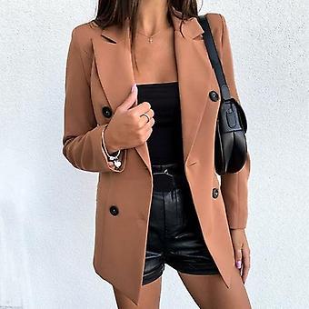 Divat dupla gombolású öltöny kabát fekete slim fit női&s kabát