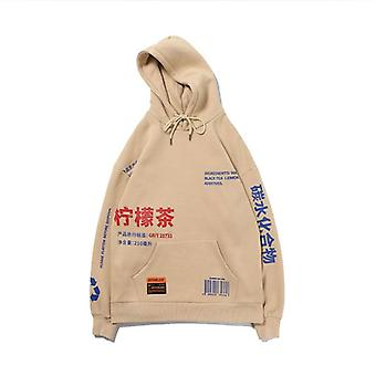 Sudaderas con capucha de vellón impreso, hombres/mujeres casual con capucha Streetwear,
