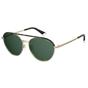 Polaroid PLD2107/S/X J5G/UC Gold/Green Polarised Sunglasses
