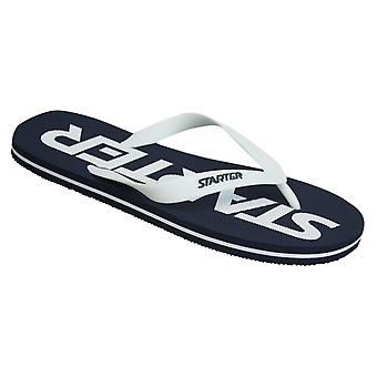 Starter Phoenix Mens Flip Flops Slip On Thong Sandals CPE00022 NAVY/WHITE Y30B