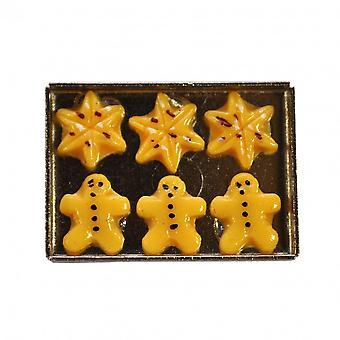 בובות מגש הבית של עוגיות חג המולד מיניאטורי מטבח חדר אוכל אביזר