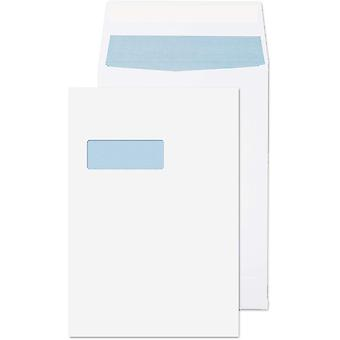 Blake Purely Packaging C4 324 x 229 x 25 mm 140 gsm Window Envelopes (9001) White - Pack of 125
