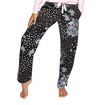 Cyberjammies Hannah 4731 Ženy & s Černá Ditsy Květinová Bavlna Pyžamo Pant