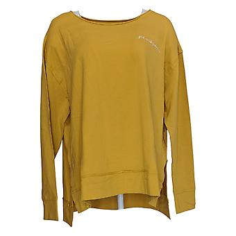 Rachel Hollis Ltd Women's Top Made For More French Terry Yellow A373192