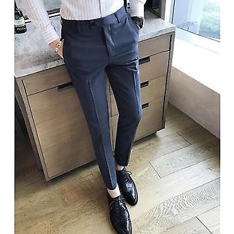 Men's Slim-fit Business Dress Suit Formal Pants