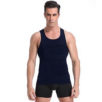 Mænd's slankende Vest Body Shaper For Posture Gynækomasti Compression Shirt