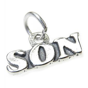 Son Sterling Silver Charm .925 X 1 Sons Family Charms - 4053